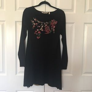Soft Surrounding sweater dress M black @ pink